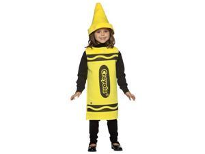 Childs Yellow Crayola Crayon Costume