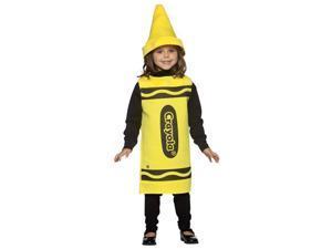 Childs Yellow Crayola Crayon Costume