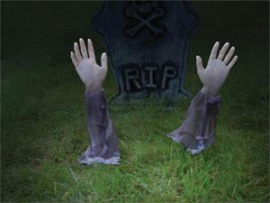 Zombie Arm Lawn Stakes (set of 2)