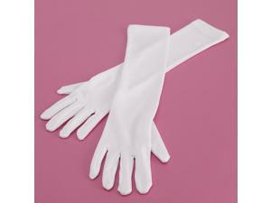 Long White Elbow Gloves Child - One Size
