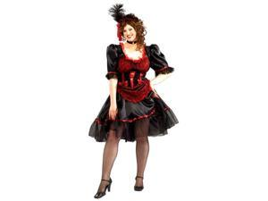 Plus Size Saloon Girl Costume - Western Costumes