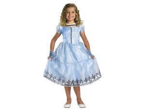 Girls Deluxe Blue Alice Costume Dress - Alice In Wonderland Costumes