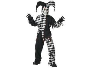 Adult Scary Evil Jester Costume - Scary Halloween Costumes