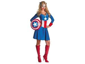 Adult Female Captain America Costume - Marvel's Captain America Costumes