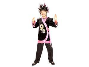Pink Dragon Girl Ninja Costume - Girls Ninja Costumes