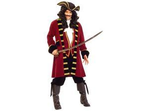 Burgundy Super Deluxe Pirate Captain Costume - Adult Pirate Costumes
