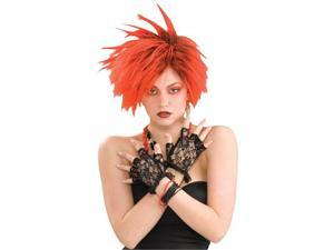 Black Lace Fingerless Gloves - Costume Gloves