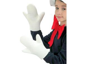 Child White Cat in the Hat Costume Gloves - Dr. Seuss Cat in the Hat Accessories