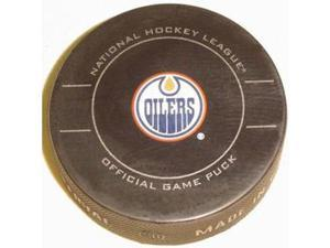 Edmonton Oilers NHL Hockey Official Game Puck 2009-2010