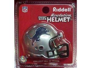 Detroit Lions 2003-2008 NFL Riddell Pocket Pro Revolution Helmet (Qty. of 10)