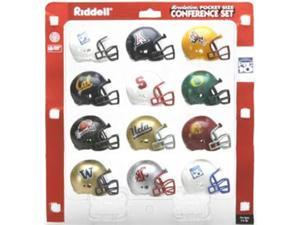 Riddell 12-Pack NCAA Revolution Pocket Pro Pac 12 Conference Set