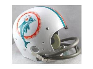 Miami Dolphins 1972 Riddell NFL TK 2-Bar Suspension Throwback FS Helmet