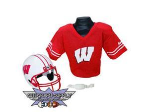 Wisconsin Badgers NCAA Football Helmet and Jersey Set