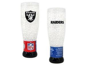 Oakland Raiders Crystal Pilsner Glass