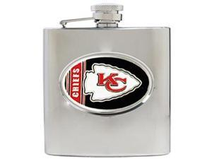 Kansas City Chiefs - 6oz Stainless Steel Hip Flask