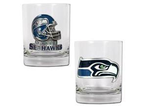 Seattle Seahawks - 2pc Rocks Glass Set