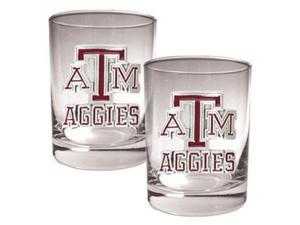 Texas A&M Aggies - 2pc Rocks Glass Set