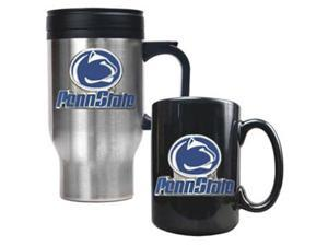 Penn State Nittany Lions - Stainless Steel Travel Mug & Ceramic Mug Set
