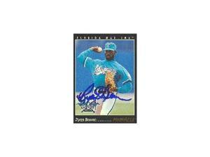 Ryan Bowen, Florida Marlins, 1993 Pinnacle Autographed Card