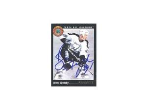 Brent Gretzky, Tampa Bay Lightning, 1994 Pinnacle Rookie Autographed Card