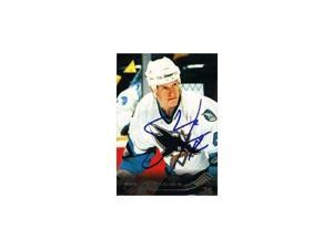 Shean Donovan, San Jose Sharks, 1995 Pinnacle Rookie Autographed Card