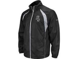 Chicago White Sox Reebok Trainer Black Full Zip Lightweight Jacket - L