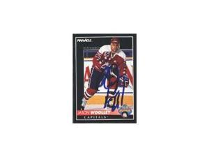 Jason Woolley, Washington Capitals, 1992 Pinnacle Rookie Autographed Card