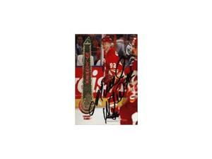 Michael Nylander, Calgary Flames, 1994 Pinnacle Autographed Card