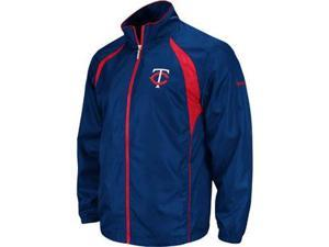 Minnesota Twins Reebok Trainer Navy Full Zip Lightweight Jacket - XXL