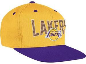 Los Angeles Lakers Adidas NBA Name & Logo Snap Back Hat