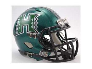 Hawaii Warriors Mini Speed Football Helmet