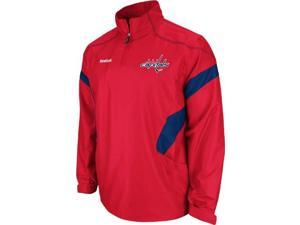Washington Capitals Reebok 2011 Center Ice Red 1/4 Zip Hot Jacket - M