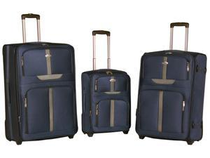 National Traveler 3-Piece Expandable Upright Luggage Set