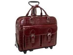 "Siamod Monterosso Collection San Martino 2-in-1 Ladies Removable Wheeled 17"" Laptop Case"