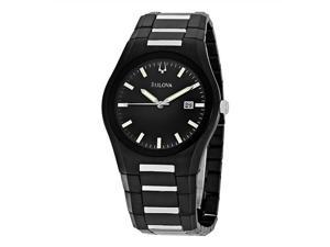 Bulova Men's 98B126 Black Dial Bracelet Watch