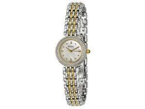 Bulova 98R151 Women's Diamond Petite Classic Quartz Analog Watch  - Gold/Stainless Steel Band with White Dial