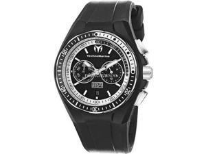 TechnoMarine 110015 Men's Cruise Sport Black Dial Silicone Quartz Chronograph Watch