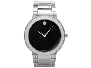 Movado Stiri 0606191 Men's Black Dial Stainless Steel Bracelet Analog Quartz Watch