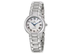 Bulova Precisionist Fairlawn 96L168 Women's Silver Dial Stainless Steel Quartz Analog Watch