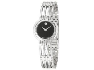 Movado Esperanza 0605098 Women's Black Dial Stainless Steel Quartz Analog Watch