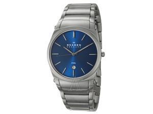 Skagen 859LSXN Men's Stainless Steel Links & Blue Dial Classic Watch