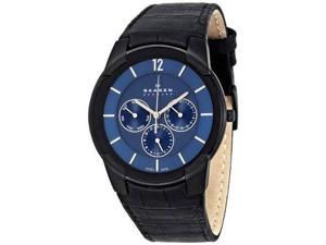 Skagen 856XLBLN Leather Blue Dial Men's Watch