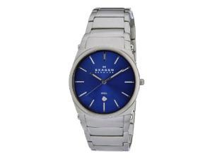 Skagen Blue Dial Stainless Steel Mens Watch 859LSXN