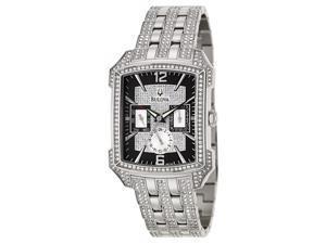 Bulova Crystal Striking Visual Design Black Dial Men's watch #96C108