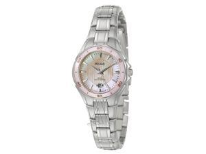 Pulsar PXT899 Women's Quartz Stainless Steel Analog Watch with Pink Dial