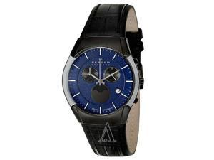 Skagen Black Label Moonphase Chronograph Blue Dial Men's watch #901XLMLN