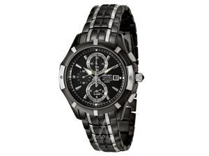 Seiko SNAE57 Black Dial Stainless Steel Chronograph Watch