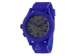 Nixon Men's 51-30 A236306-00 Blue Rubber Swiss Quartz Watch with Blue Dial