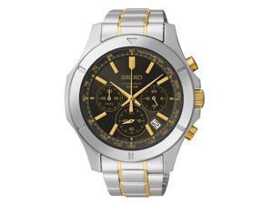 Seiko SSB109 Two-Tone Chronograph Men's Watch