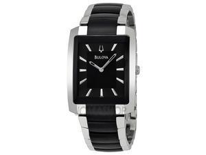 Bulova 98A117 Bracelet Black Dial Men's Watch